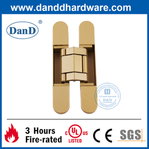 Zinc Alloy Golden Painted 3D Adjusting Concealed Door Hinge-DDCH008-G40