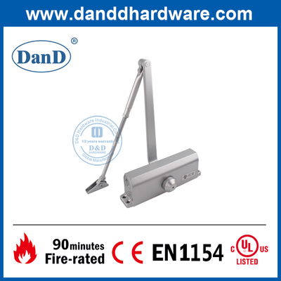 UL Certification Fireproof Aluminium Hydraulic Interior Door Closer-DDDC016