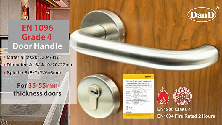 Details about  /Doorknob Door Handles Stainless Steel Door Handle Door Fittings Flat Rosette Pure Deluxx 24 show original title