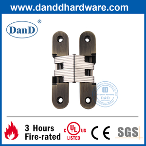 Zinc Alloy Antique Brass Hidden Door Hinge for Exterior Door-DDCH007