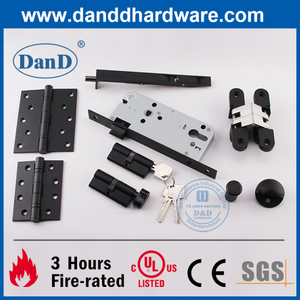 CE UL Grade 304 Matte Black Commercial Fire Door Hardware Fitting -DDDH002