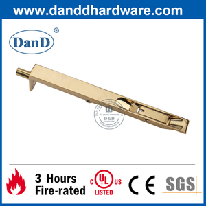 Security Polished Brass Stainless Steel Flush Door Bolt-DDDB001