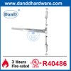 UL ANSI Grade 1 SS304 Vertical Rod Emergency Exit Door Push Bar-DDPD004