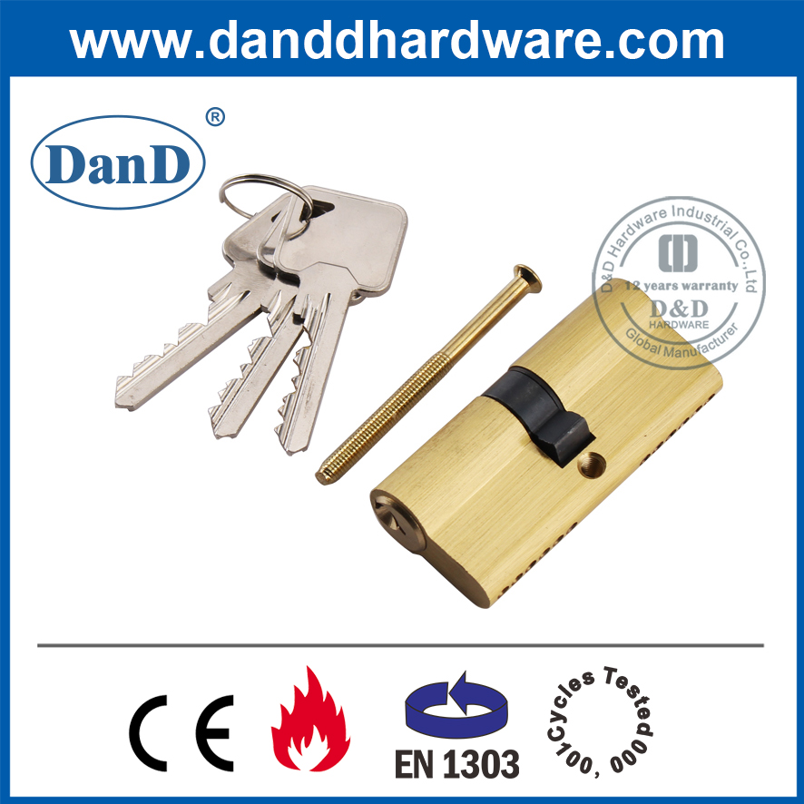 EN1303 Gloden Security Mortise Door Lock Double Cylinder-DDLC003