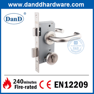 BS EN12209 Stainless Steel 304 Euro Fire Rated Mortise Door Lock-DDML009